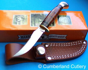 Marbles Small Game Bird & Trout Fixed Blade Hunting Knife with leather Sheath
