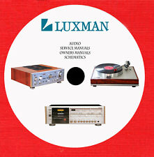 Luxman Audio Repair Service owner manuals on 1 dvd in pdf format