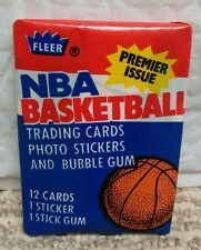 1986/87 86-87 Fleer NBA Basketball Wax Pack Alex English Sticker on Back