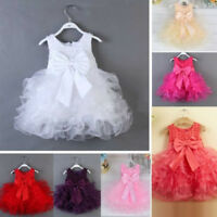 Flower Girl Dress Baby Party Wedding Birthday Princess Christening Tutu Dresses