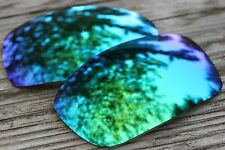 Mirrored Blue Green Polarized Replacement Sunglass Lenses for Oakley X Squared