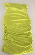 KOOKAI WOMENS SEXY STRETCHY DRESS LIME GREEN STRAPLESS LINED SUMMER PARTY  SZ 1