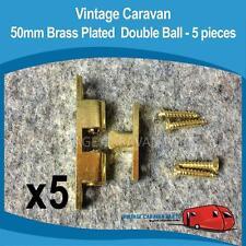 Caravan 50mm Brass Double Ball Catch  X5 Vintage Franklin, York, Viscount H0152