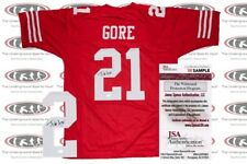 Frank Gore Signed Custom Pro Style Jersey JSA Witnessed