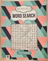Puzzle book with word search to build your vocabulary and train your brain