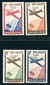 REUNION 1938 Yvert PA 2-5 * teils ** POSTFRISCH DOPPELTE WERTZIFFERN 880€+(S5330