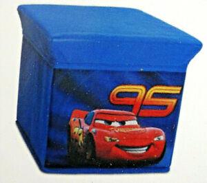 Cars-Hocker m.Stauraum-Kinder Sitzhocker-Aufbewahrung-Box-25 cm--3-6 Jahre