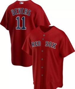 Boston Red Sox Rafael Devers #11 Red Printed Baseball Jersey S-4XL