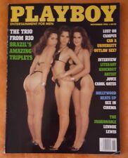 PLAYBOY MENS MAGAZINE NOVEMBER 1993 JULIANNA YOUNG BRAZIL TRIPLETS CAMPUS SEX
