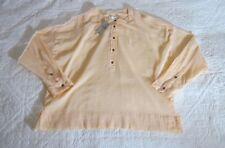 Lou & Grey Womens Top LP Peach Semi Sheer Popover 3/4 Sleeves Gauze Petites NWT