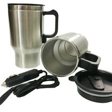 12V Car Thermos Thermal Heated Travel Mug Cup Plug Heater Coffee Tea 450ml