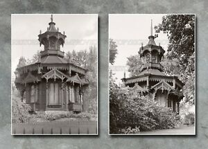 Victorian gazebo lawn house Milwaukee WI photos lot architecture two 5x7s or CD