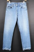 Vintage LEVI'S 501 Button Fly Denim Jeans Mens USA Size 38x36 Actual (35x35)