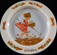 "Sarah Stilwell Weber Calendar Collection Plate October 5th Issue 1985 7"" D"