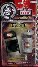 WWF Raw Unchanined Fury Tajiri Take Charge Trap Accessories NIB JAKKS Pacific