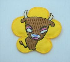 TAURUS BULL STAR SIGN HOROSCOPE 5cm  Embroidered Sew Iron On Cloth Patch ZODIAC