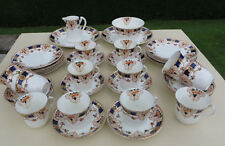 Antique/Vintage Porcelain 40 piece Tea Service/Set - Hand Coloured Imari Palette