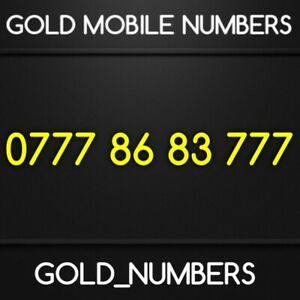 EASY VIP GOLDEN GOLD 0777 MOBILE PHONE NUMBER 07778683777