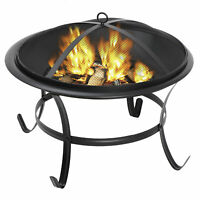 """22"""" Fire Pit Heater Backyard Wood Burning Patio Deck Stove Fireplace Table"""