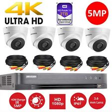 Hikvision CCTV HD1080P 5MP Night Vision H.265+ DVR Home Security System Kit 8CH