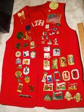 Vintage Lions Club Vest with Pins from Kalamath Falls, Oregon