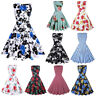 Womens Vintage 1950s Pinup Swing Evening Party Sleeveless Rockabilly Retro Dress
