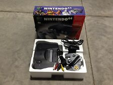 NINTENDO 64 CONSOLE N64 N GAME SYSTEM COMPLETE SET BOX NES HQ 90 Day Warranty #A