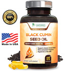 Black Seed Oil Capsules 1000mg Nigella Sativa Black Cumin Seed Oil - 120 Count