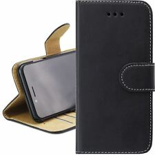 BLACK & TAN Leather Magnetic Flip Wallet Cover Case For APPLE iPhone 7 iPhone 8
