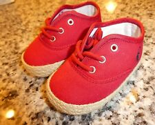 Polo Ralph Lauren baby infant crib shoes new Bowman Lace size 6 weeks 3 months