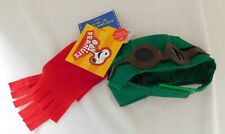 New Build-A-Bear Peanuts Snoopy FLYING ACE Outfit Scarf Hat with Goggles