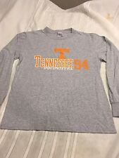 Ladies Soffe Tennessee T Shirt Size Small Grey With Orange Lettering