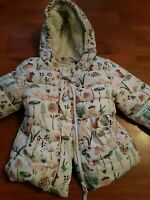 Baby Girls Light  Quilted Hooded Coat Age 3 - 6 Months by next