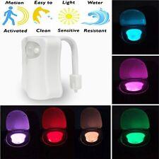 Toilet Bathroom Light Night LED Human Motion Sensor Lamp Body Sensing Automatic