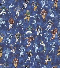 Quilting Treasures Gridiron by Dan Morris 26175 B Blue Players Cotton Fabric