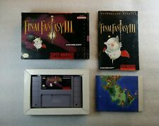 Final Fantasy III Super Nintendo US [Cale | Notice | Carte]