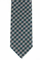 New MARIANO RUBINACCI NAPOLI Tie Silk Blue and Gray Checks Handmade in Italy