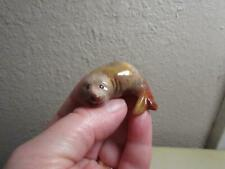 Harp Seal Pup, Hand carved Stone from the Andes, Miniature Multi Hued Seal Pup