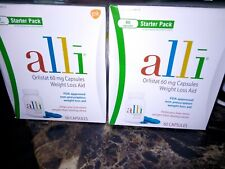Alli Starter Pack 60 Mg Capsules two packages.