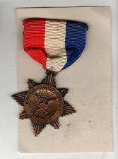 Original WWI Salina Kansas Overseas Service Victory Medal on Ribbon & Card