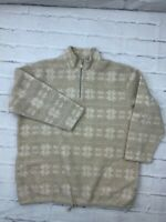 Liz Claiborne Women's Sweater Size XL Fleece 1/4 Zip Mock Neck Hem String Jacket