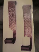 New 17� Bella Grace Wall Sconce Set Pillar Candle Holders Brown & Gold Antiqued
