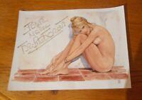 Autographe Dédicace De Brigitte Bardot 15x20 Cm