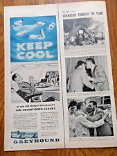 1956 Greyhound Bus Ad  Keep Cool as you roll Along in Air Conditioned Luxury
