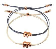 Minimalistisches Armband mit Elefant rosegold - FARBWAHL Glücksbringer Freundin