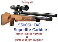 Air Arms O'ring Kit S500SL  FAC