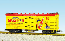 USA Trains G Scale Refrigerator Car R16449 Popeye's Punch - Yellow/Red