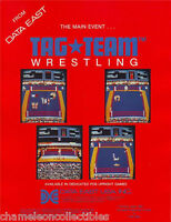 TAG TEAM WRESTLING 1983 DATA EAST ORIGINAL NOS VIDEO ARCADE GAME MACHINE FLYER