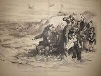 1873 Harper's Weekly October11 Nast -U.S. Grant rejects Caesarism at Long Branch