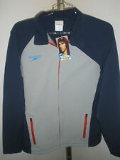 NWT Mens Speedo Stretchy Soft Shell Jacket Navy & Gray Size Large ($98)